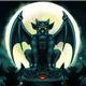 Halloween Gargoyle Illustration Digital Painting