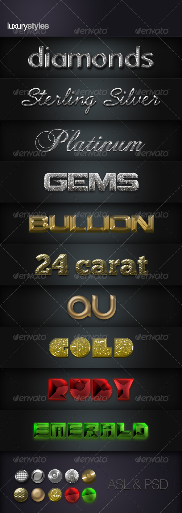 Luxury Layer Styles - Text Effects Styles