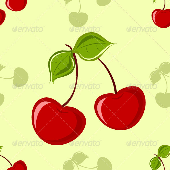 Seamless Cherry Background - Patterns Decorative
