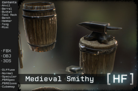 Medieval Smithy - 3DOcean Item for Sale