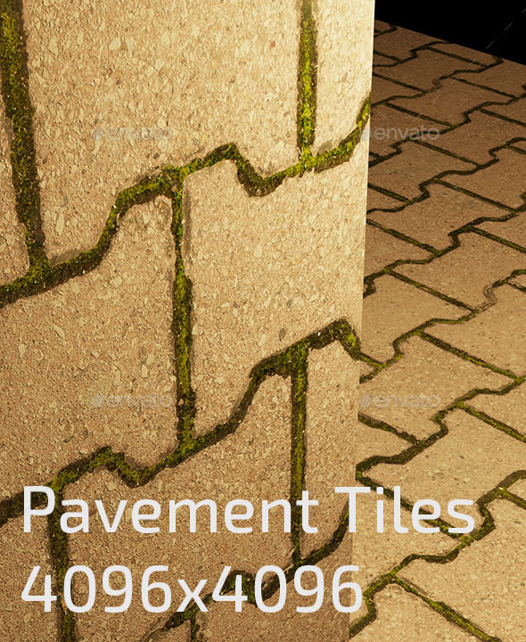 Pavement Tiles Texture - 3DOcean Item for Sale