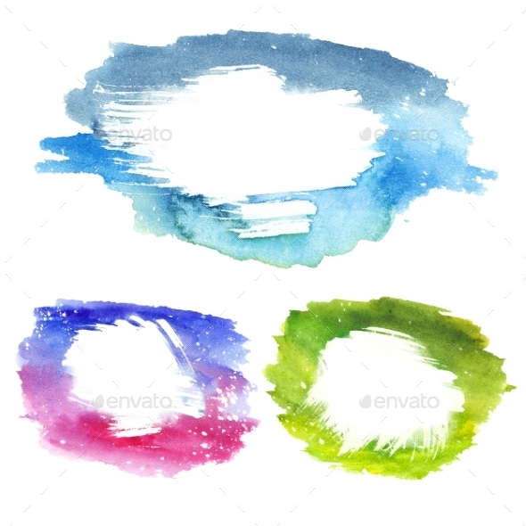 Watercolor Text Frames