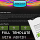 Slick Full Website Template with CMS and 2 Skins - ActiveDen Item for Sale