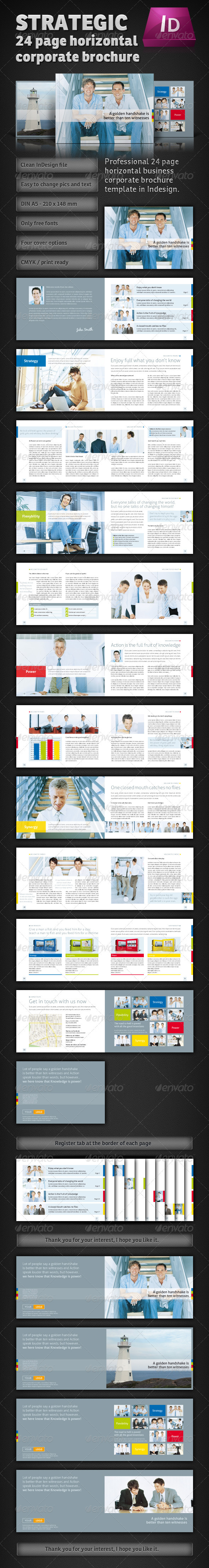 horizontal brochure template - indesign strategic plan template