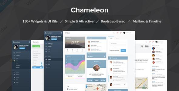 Chameleon Admin PSD Template