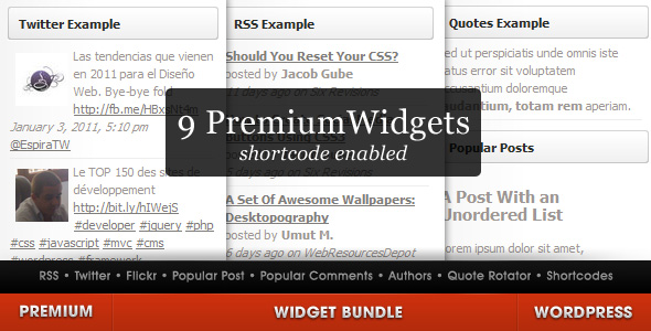 WordPress Widget Bundle