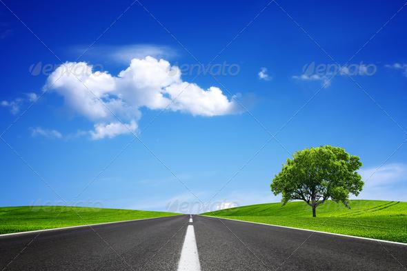 PhotoDune Empty road 1243218