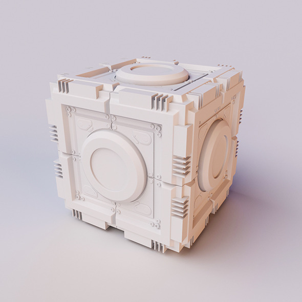 Sci-Fi Cube - 3DOcean Item for Sale