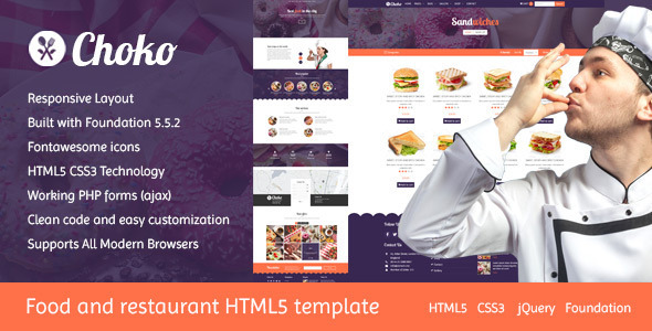Choko - Chef & Food HTML5 Template