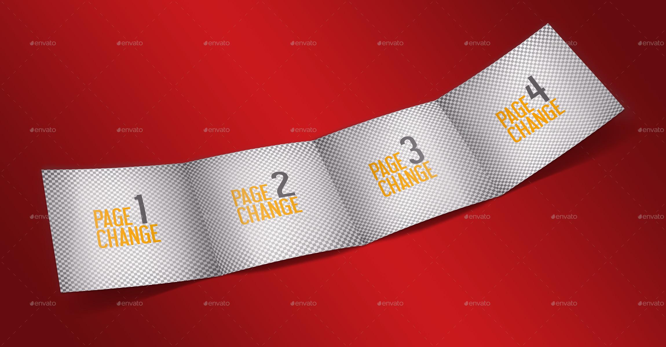 Square Four Folded Brochure Mockup by creartman – Folded Brochure