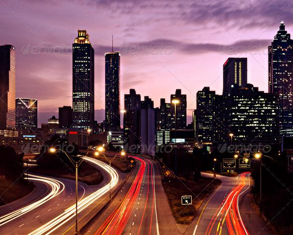 Stock Photo - PhotoDune Atlanta Georgia Skyline 1243719