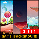 Space, Candy & Sky Game Background