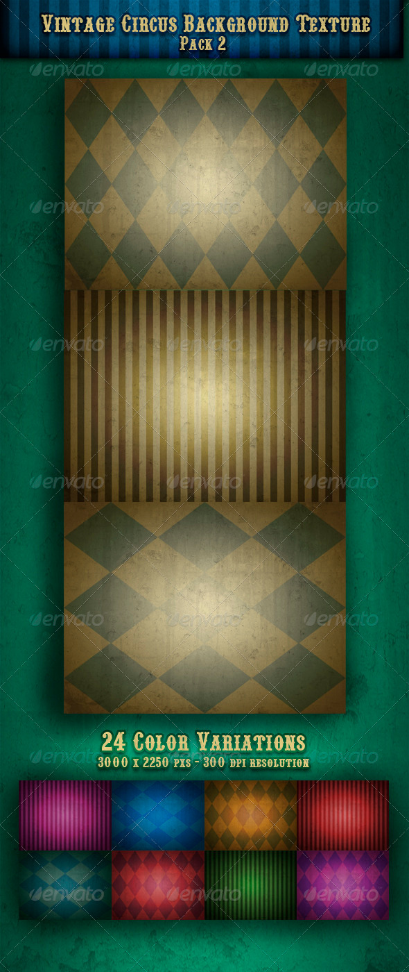 GraphicRiver Vintage Circus Backgrounds Textures Pack 2 1243807