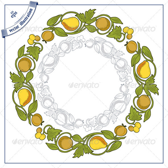 Decorative Round Fruit Border