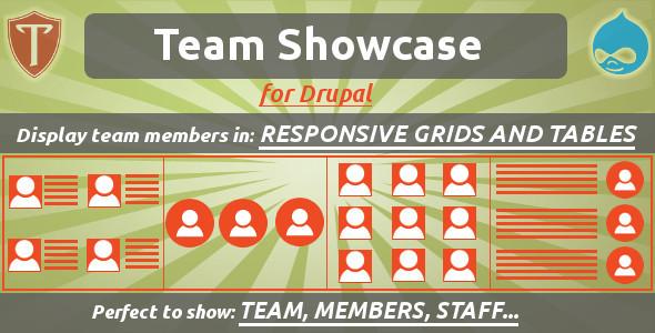 Team Showcase for Drupal