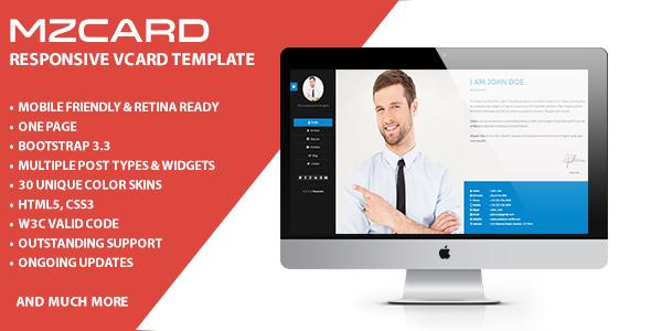 MilZinCard - Responsive vCard Template