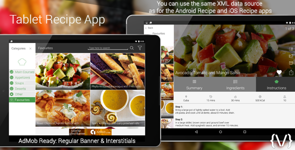 Tablet Recipe App