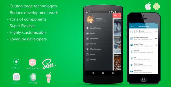 ionFullApp -Ionic PhoneGap/Cordova Full Hybrid App