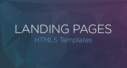 HTML5 Landing Pages Templates