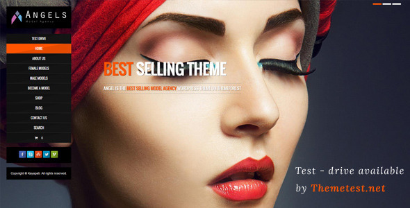 Download Angel - Fashion Model Agency WordPress CMS Theme nulled download