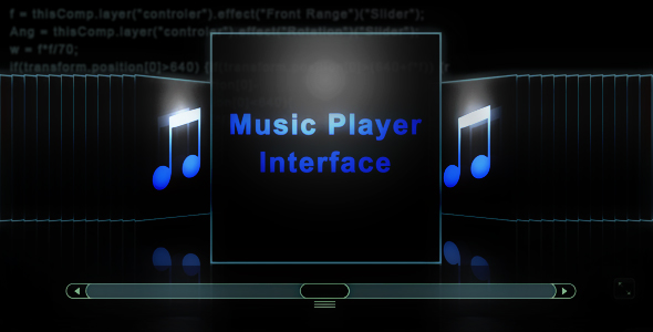 After Effects Project - VideoHive Music Player Interface 150114