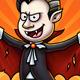 Dracula Vampire Cartoon Character Digital Painting