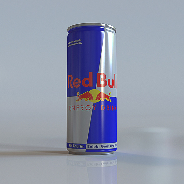 red bull can - 3DOcean Item for Sale