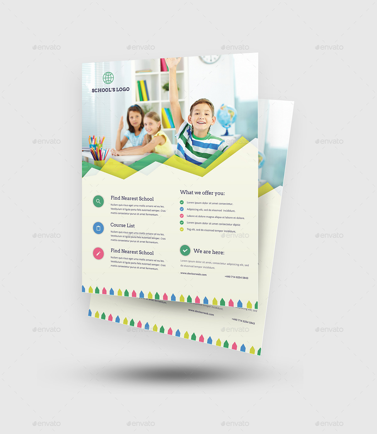 flyer education template