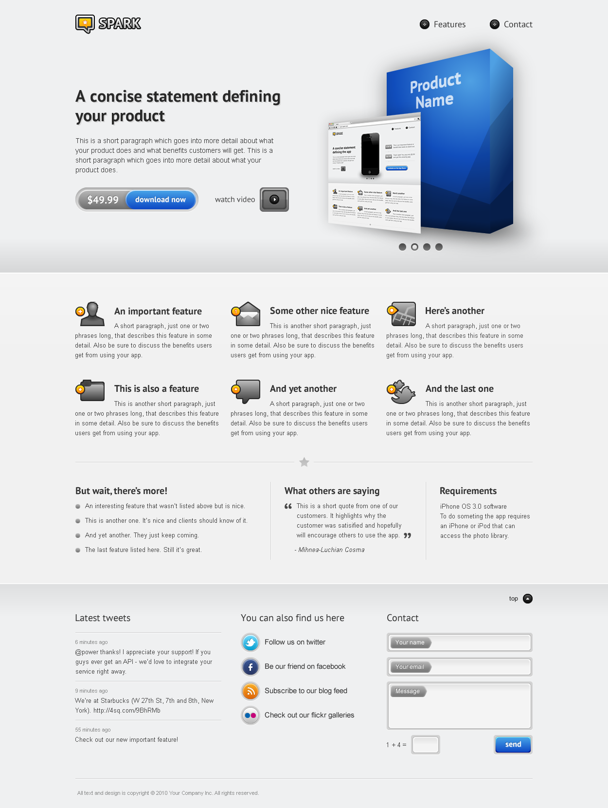 Spark - The Perfect Landing Page
