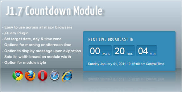 CodeCanyon Live Brodcast Countdown Module 1207265