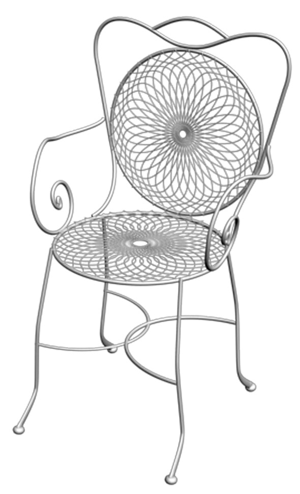 Wrought Iron Chair - 3DOcean Item for Sale