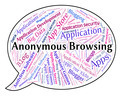 Anonymous Browsing Indicates Word Mystery And Unnamed