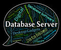 Database Server Shows Word Networking And Databases