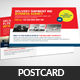Delivery Shipment Postcard Psd Template