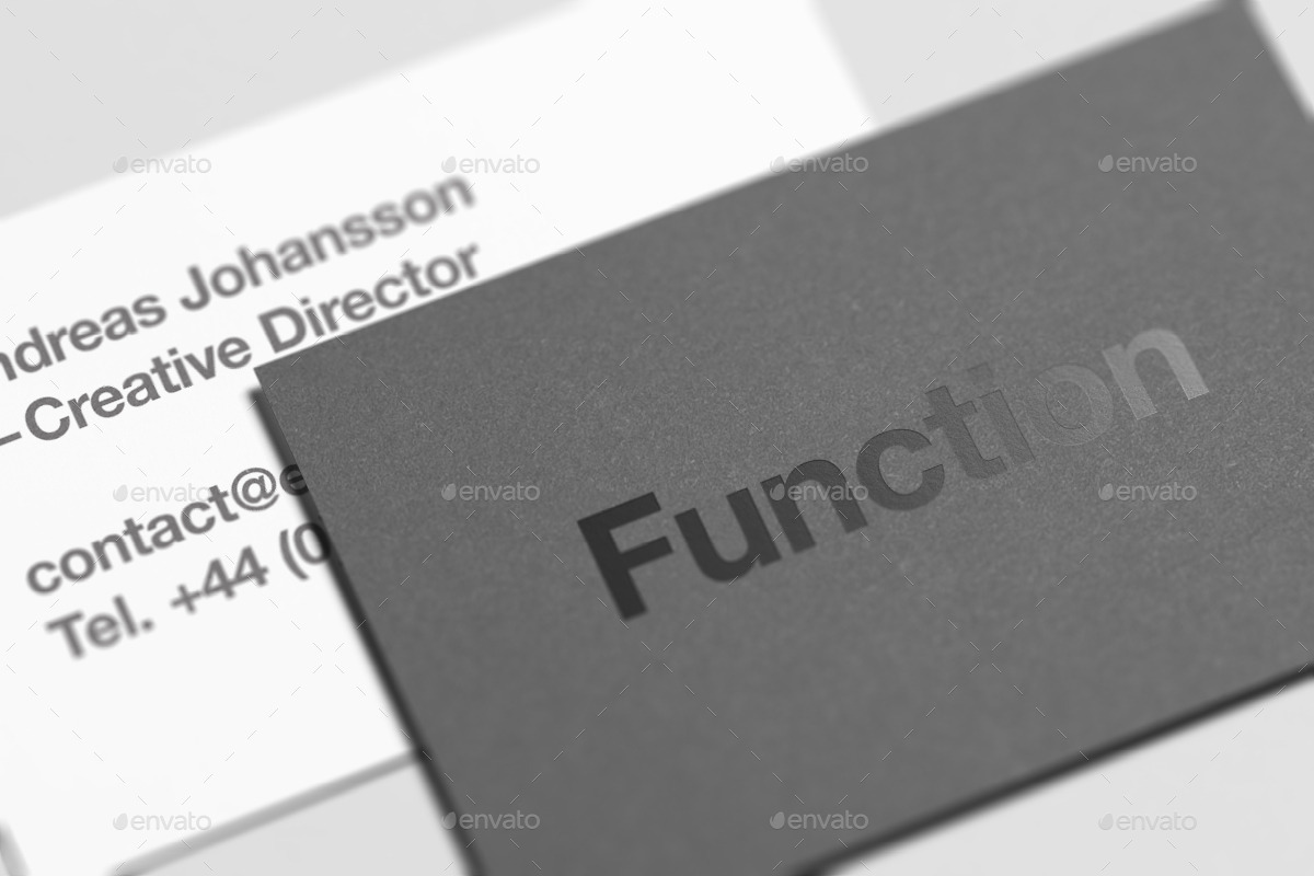 Business Card Mock-Up By Zeisla