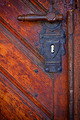 Old handle in wooden doors - frontal view - PhotoDune Item for Sale