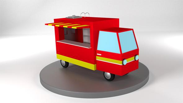 3DOcean Food Truck 12437019