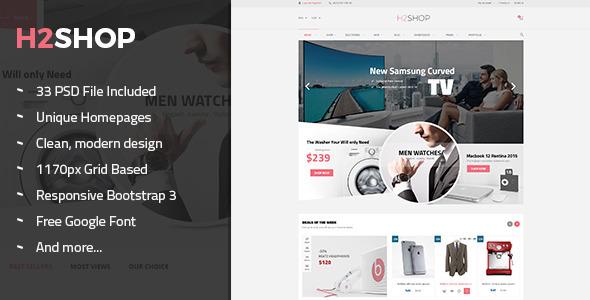 H2Shop - Multi-Purpose eCommerce PSD Theme