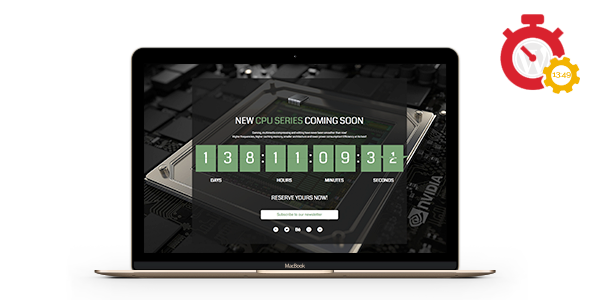 Responsive Coming Soon Landing Page for WordPress