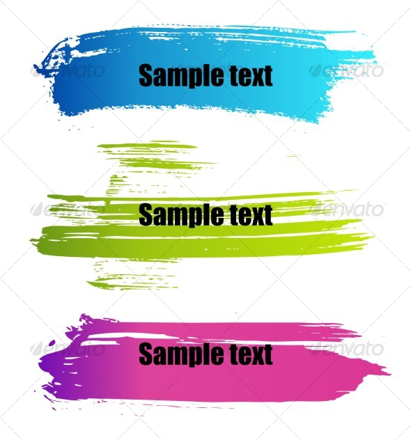Color paint grunge banners - Backgrounds Decorative