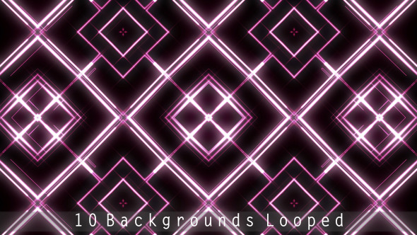 VideoHive Abstract Neon Light Dancing VJ Backgrounds 12440531