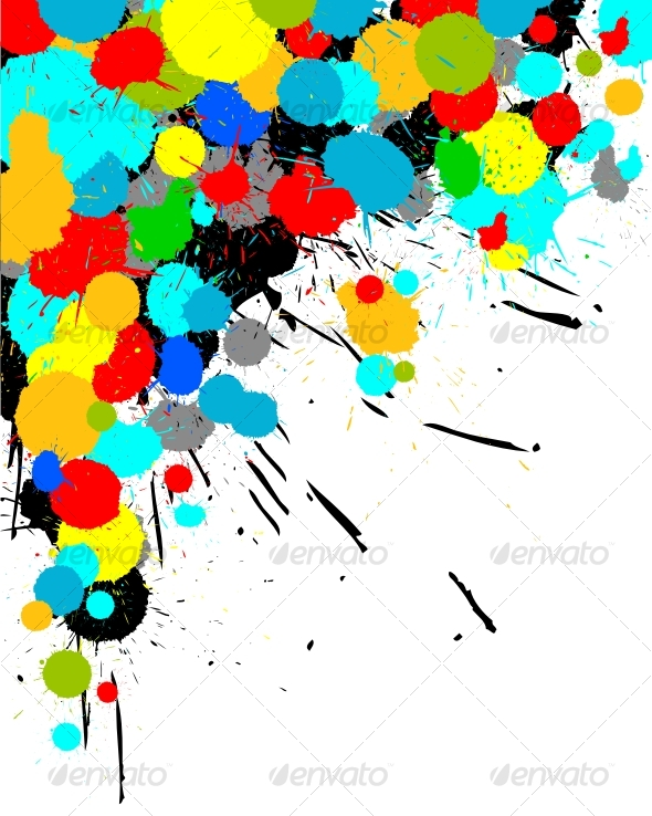 GraphicRiver Color paint splashes background 50107