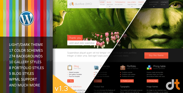 Duotive 2WO - All in One Wordpress Theme - Portfolio Creative
