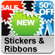 Sticker and Ribbon Set - GraphicRiver Item for Sale