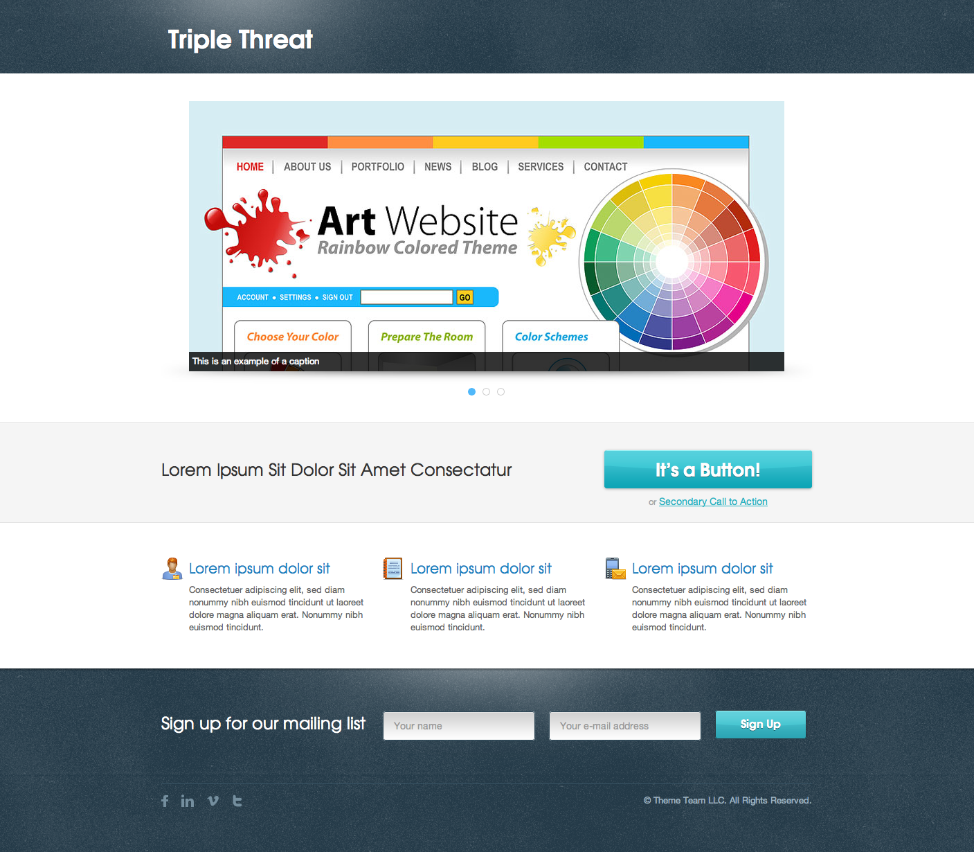 Triple Threat Landing Page
