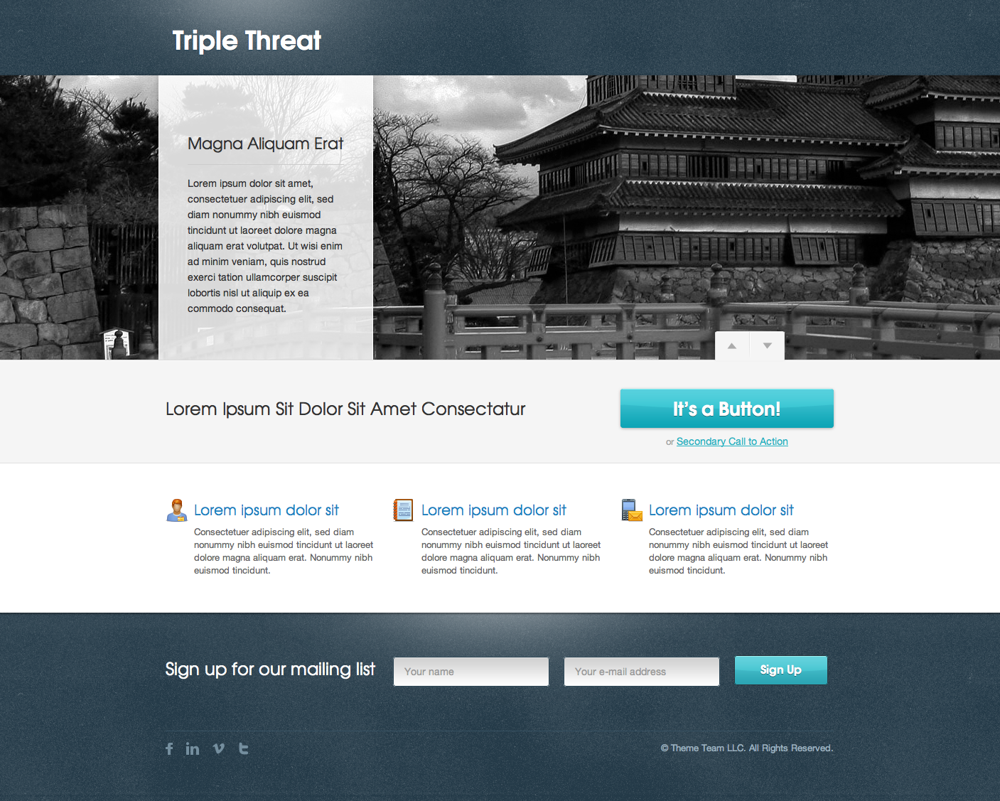 Triple Threat Landing Page