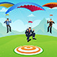Businessmen with a Parachute