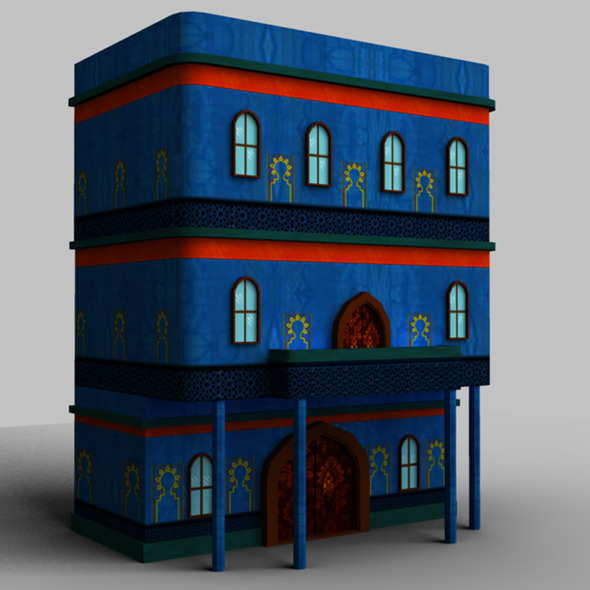 Arabic Style Building01 - 3DOcean Item for Sale