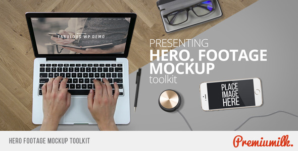 Hero Footage Mockup Toolkit-Videohive中文最全的AE After Effects素材分享平台