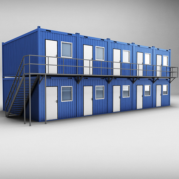 Container shipping House double floor - 3DOcean Item for Sale